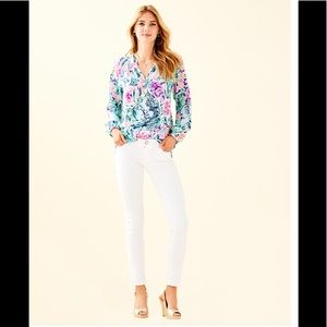 Lilly Pulitzer White Worth Skinny Jeans - Size 0
